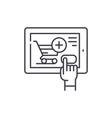shop online line icon concept shop online vector image vector image
