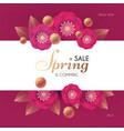 spring sale flower paper cut elegant design vector image vector image