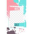stories editable stories template big sale web vector image
