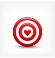 Target with heart Valentines vector image