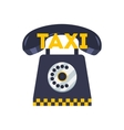 Taxi phone icon Flat of cab booking vector image