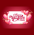text happy valentines day typography design vector image vector image