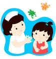 vaccination child cartoon vector image