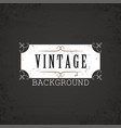 vintage background white ornament vector image