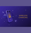 wireless charging web page design template vector image vector image