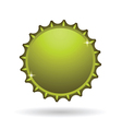 yellow cap icon vector image