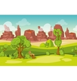 Seamless cartoon nature landscape with vector image