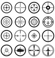 Aim target icons set vector image