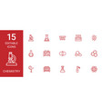 15 chemistry icons vector image vector image