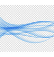 Abstract blue wave set on transparent backgroun vector image