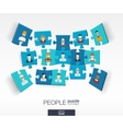 Abstract social background with connected color vector image vector image