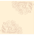 Background with narcissus spring flower drawing vector image vector image