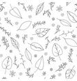 black doodle seamless floral pattern vector image vector image