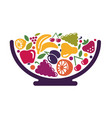 bowl with fruit vector image vector image