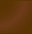 brown retro halftone diagonal square pattern vector image vector image
