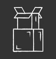 cardboard boxes pile chalk icon parcel packing vector image vector image