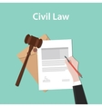 civil law concept a business man hand vector image