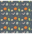 colorful textile halloween pattern vector image vector image