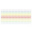 corn shape halftone spectrum effect vector image vector image