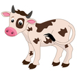 cows on a white background vector image
