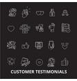 customer testimonials editable line icons vector image vector image