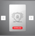 defence firewall protection safety shield line vector image