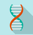 dna formula icon flat style vector image