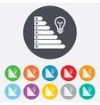 Energy efficiency icon Electricity consumption vector image vector image