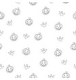 fantastic unusual seamless halloween pattern with vector image