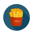 flat style french fries icon vector image