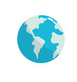 global earth planet to geography ubication vector image vector image