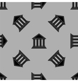 Greek Temple Icon Seamless Pattern vector image vector image