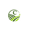 green project solution center initial c vector image vector image