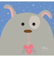 Greeting card with cartoon and funny character vector image vector image