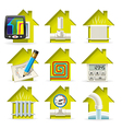 Heating Home Icons vector image