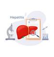 hepatitis concept vector image vector image