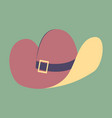 icon in flat design fashion clothes cowboy hat vector image vector image