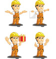 Industrial Construction Worker Mascot 11 vector image