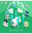 Isometric Surgery Operating Room with Doctors vector image