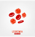 leukemia icon image vector image vector image