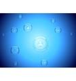 Light blue hi-tech communication background vector image