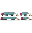 Long truck with cargo goes to the warehouse vector image vector image