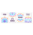 mandala yoga ornament oriental patterns cards vector image