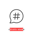 minimal editable stroke relevant icon vector image