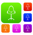 modern office chair set color collection vector image vector image