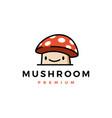 mushroom cute logo icon vector image