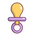 nipple baby icon cartoon style vector image
