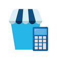 online shopping market vector image vector image