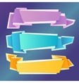 Origami banners set vector image vector image