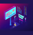 outdoor advertising design isometric 3d concept vector image vector image